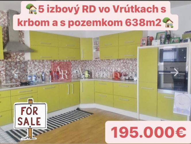 Reality Prerobený 5.izbový RD, s poz.638 m2, Krbom vo Vrútkach