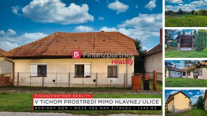 Reality Rodinný dom Nová Ves nad Žitavou, pozemok 1445 m2