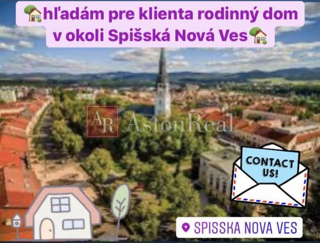 Reality Kúpa:Hľadám pre klienta rodinný dom v okolí Spišskej Novej Vsi