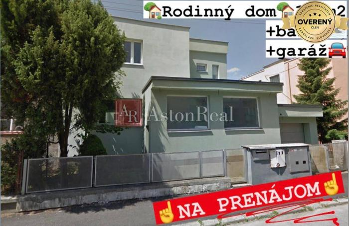 Reality časť RODINNÉHO DOMU na PRENÁJOM, prízemie, 173 m2, + bazén + garáž