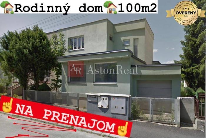 Reality časť RODINNÉHO DOMU na PRENÁJOM, 1.poschodie, 100 m2