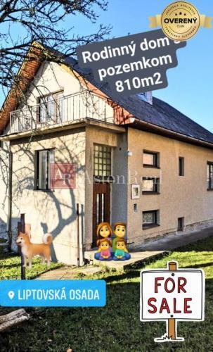 Reality Predaj: Rodinný dom s pozemkom 810m2, Liptovská Osada