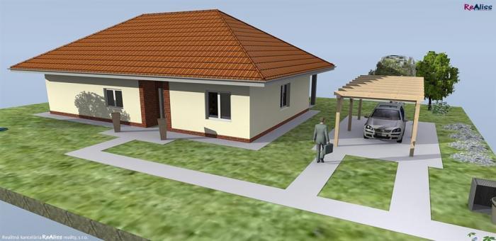Reality Novostavba 4 izb. bungalovu s terasou, s pozemkom 899 m2 v Horných Ozorovciach