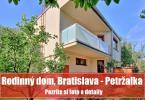 Reality Priestranný dom na bývanie i podnikanie, Bratislava - Petržalka
