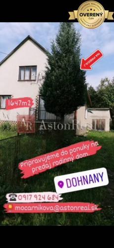 Reality PREDAJ: Iba u nás predaj rodinný dom Dohňany pozemok 1647m2.