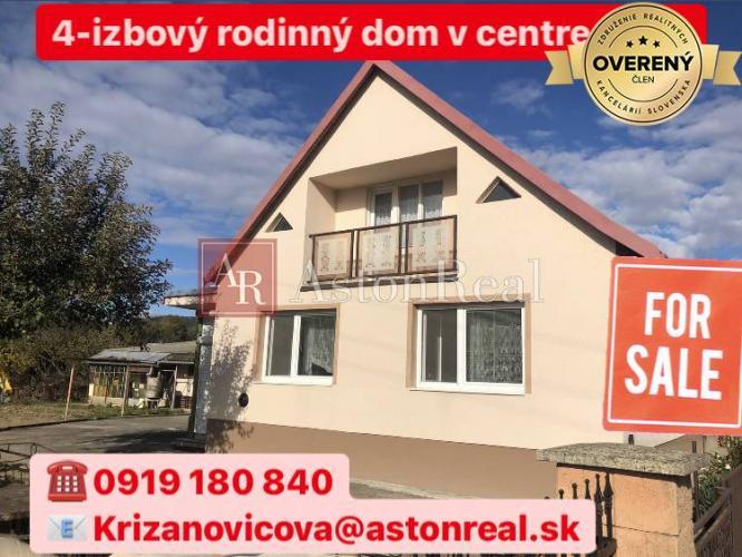 Reality 4-izbový rodinný dom v centre obce Lednické Rovne na pozemku 569m2