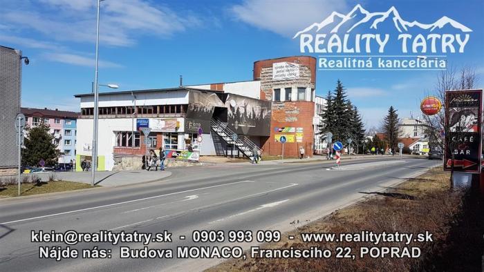 Reality Obchodné priestory 110 m2 v Poprade podnikajte vo vlastnom !!!