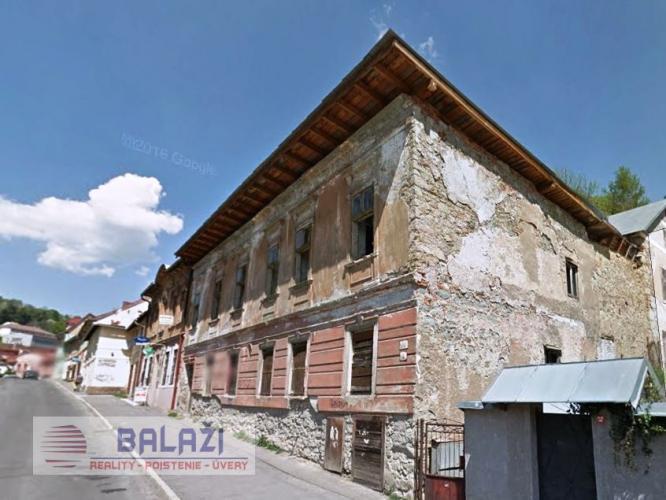 Reality BANSKA ŠTIAVNICA  historická budova na predaj .pozemok 281m2.