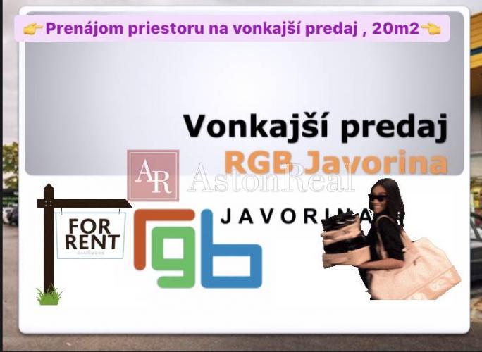 Reality Prenájom: Vonkajšieho predaja pri OC RGB Javorina Nové Mesto nad Váhom