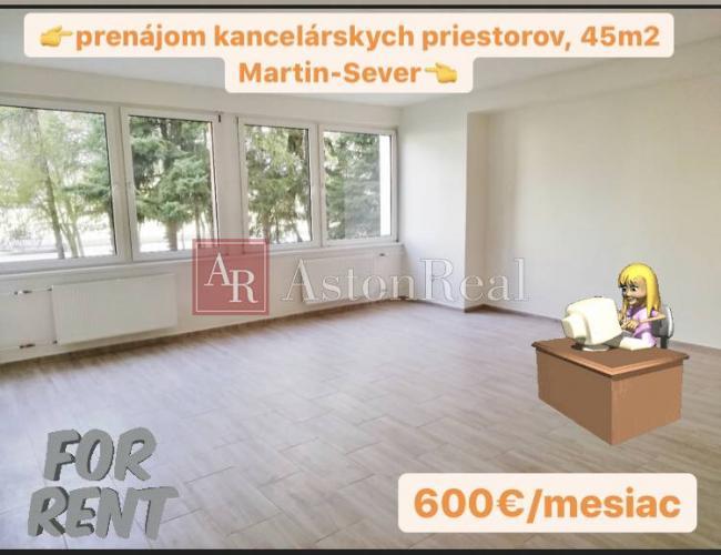 Reality Prenájom obchodných priestorov, 45 m2 Martin-Sever