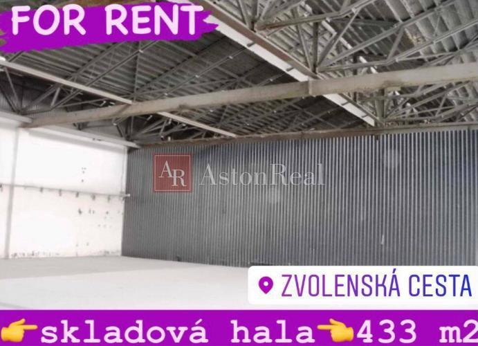Reality Skladová hala 433 m2, Banská Bystrica - Zvolenská cesta