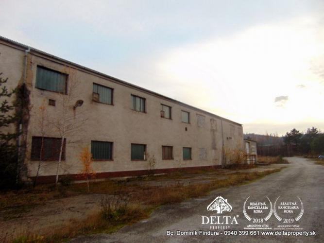 Reality DELTA - Výrobná hala s administratívnou budovou na predaj Markušovce