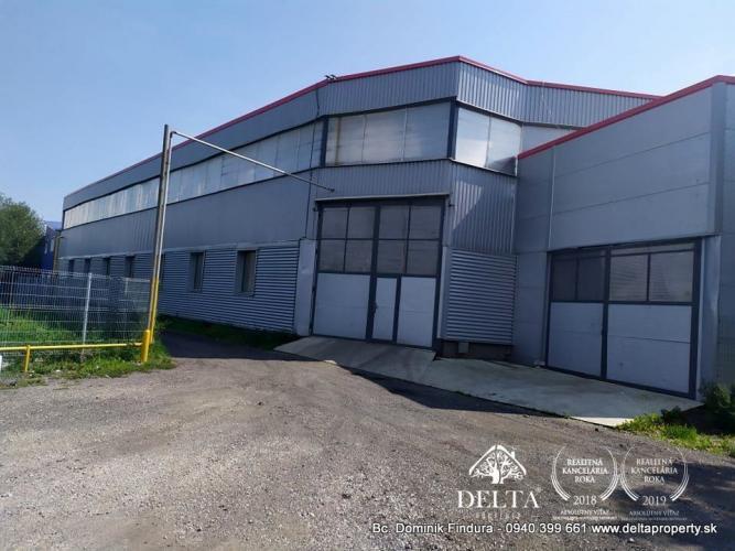 Reality DELTA - Výrobné haly, sklady a administratívna budova na predaj Veľký Slavkov