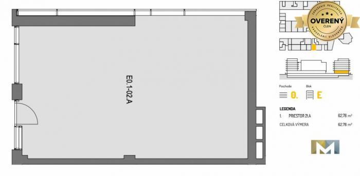 Reality Na predaj nový obchodný priestor (63m2) na Nivách