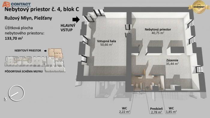 Reality Nebytový priestor číslo 4, blok C v projekte Ružový mlyn