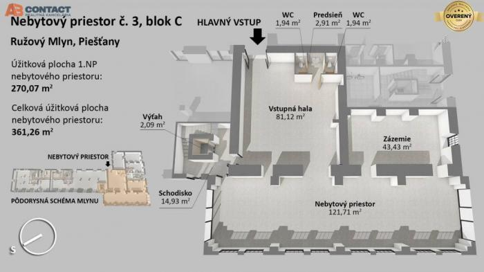 Reality Nebytový priestor číslo 3, blok C v projekte Ružový mlyn