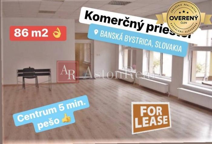 Reality Prenájom: pekný kancelársky priestor s parkovaním centrum B. Bystrica