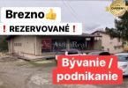 Reality REZERVOVNÉ: Obchodný priestor s možnosťou zmeny na RD v Brezne;