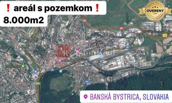 Reality PREDAJ: Areál s pozemkom v priemyselnej časti BB o rozlohe 8.000 m2