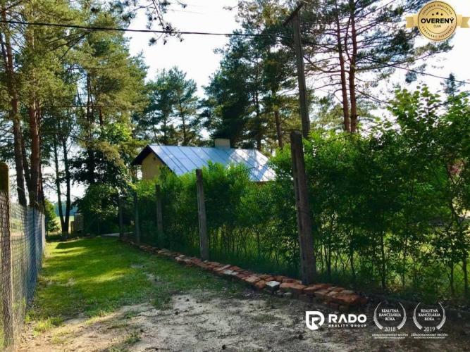 Reality IBA U NÁS, ZĽAVNENÁ CENA! Celoročne obyvateľná chata - Borský Sv. Jur