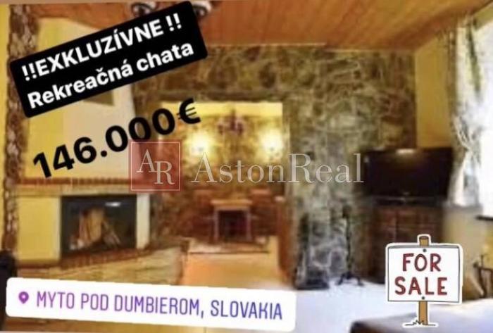Reality EXKLUZÍVNE: rekreačná chata Mýto pod Ďumbierom, 146.000 €