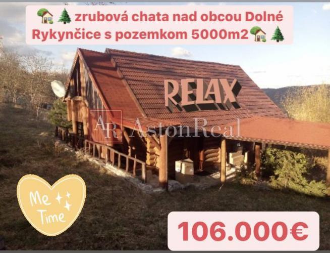Reality Predaj: zrubová chata Dolné Rykynčice s pozemkom o rozlohe 5000m2