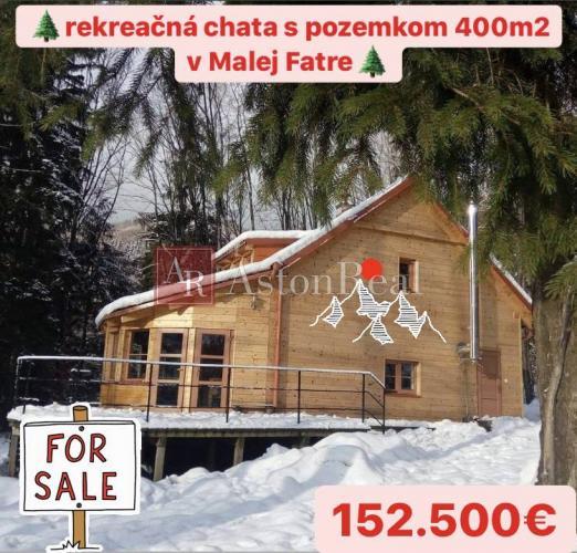 Reality Predaj: Rekreačnej chaty v Malej Fatre pozemkom o rozlohe 400m2