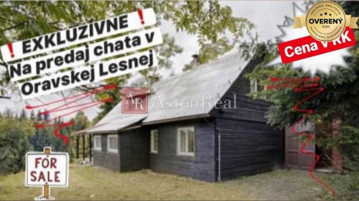 Reality EXKLUZÍVNE na predaj CHATA, pozemok 2.676 m2  v Oravskej Lesnej !!!