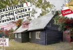 Reality EXKLUZÍVNE: na predaj CHATA v Oravskej Lesnej ! pozemok 2.676 m2