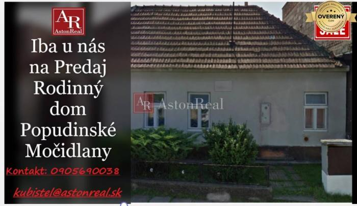 Reality Rezervované Rodinný dom so záhradou v obci Popudinské Močidlany