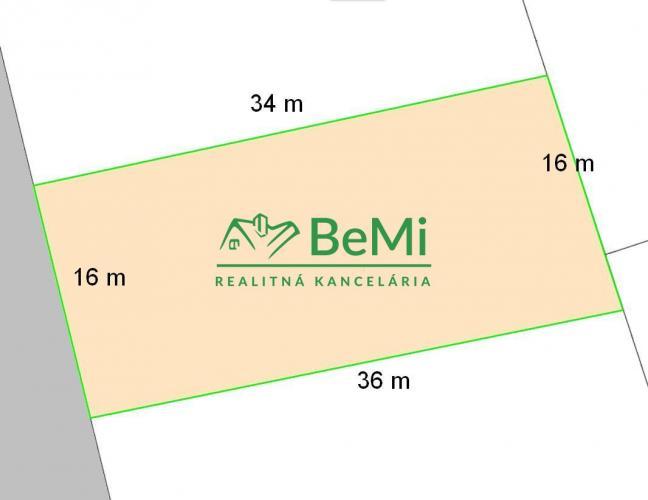 Reality Stavebný pozemok, 556 m2, Veľký Cetín (219-14-LUB)