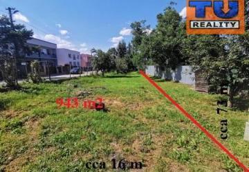 Reality STAVEBNÝ POZEMOK, Košice- okolie, Valaliky, výmera 943 m2, (cca 16mx73m). CENA: 81 990,00 EUR