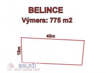 Reality Belince, stavebný pozemok 775 m2