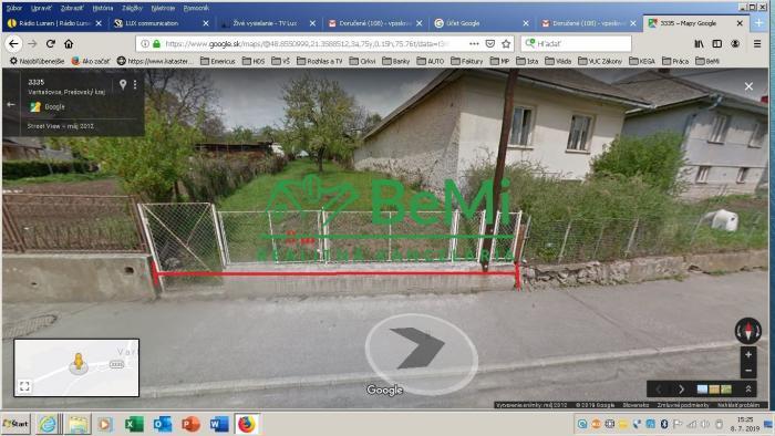 Reality Na predaj pozemok pre stavbu chaty alebo  domu - Varhaňovce, Prešov,  Košice 20 km. (013-14-IMA)
