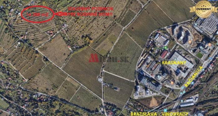 Reality Predaj exkluzívneho pozemku pre rodinné domy, Bratislava-Nové Mesto