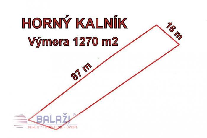 Reality HORNÝ KALNÍK  stavebny pozemok 1270m2 vhodny na výstavbu domu, okr.Martin