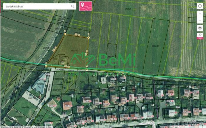Reality Na predaj pozemok v lukratívnej časti mesta Poprad - Spišská Sobota pre domovú výstavbu 037-14