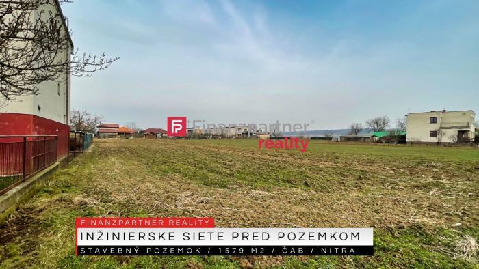 Reality Stavebný pozemok 1579 m2, Čab, Nitra