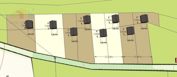 Reality Pozemok na stavbu rodinných domov, alebo rekreačných nehnuteľností - 5900 m2 - Stará Turá