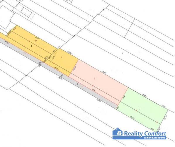 Reality NA PREDAJ, pozemky na rodinne domy (výmera od 736 m2), Trenčianske Jastrabie
