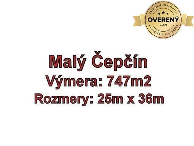 Reality MALÝ ČEPČÍN- pozemok 747 m2 , okr. Turčianske Teplice