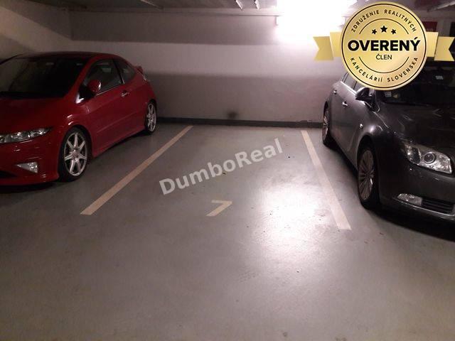 Reality Parkovacie státie v podzemnej garáži, Hrachová, Bratislava - Ružinov