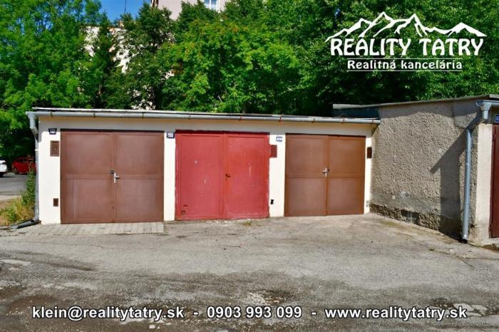 Reality Garáž 18 m2 blízko centra na ul. Okružná v Poprade - ODPORÚČAME !!!