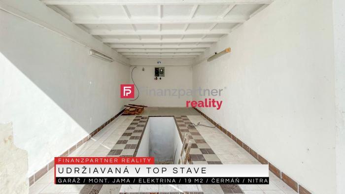 Reality Garáž s jamou a elektrinou, 19 m2, Čermáň, Nitra